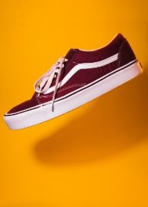 back-to-school-foot-locker-maroon-shoes-yellow-background